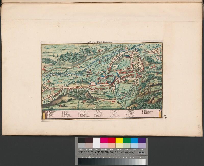 Vogelschau des Stiftes und der Stadt Berchtesgaden