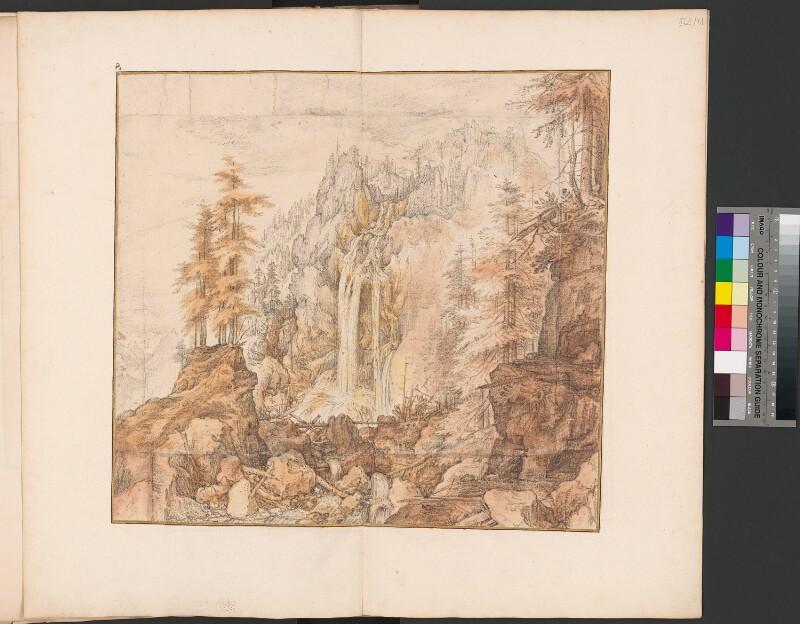 Berghang mit Wasserfall