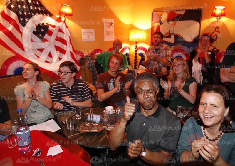 Election-Night-Party der US-Demokraten in Österreich
