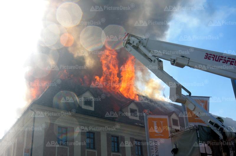 Brand im Linzer Ursulinenhof