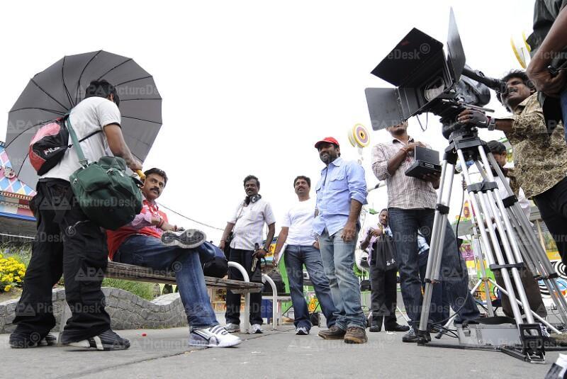"Dreharbeiten zum Film ""Namo Venkatesa"""