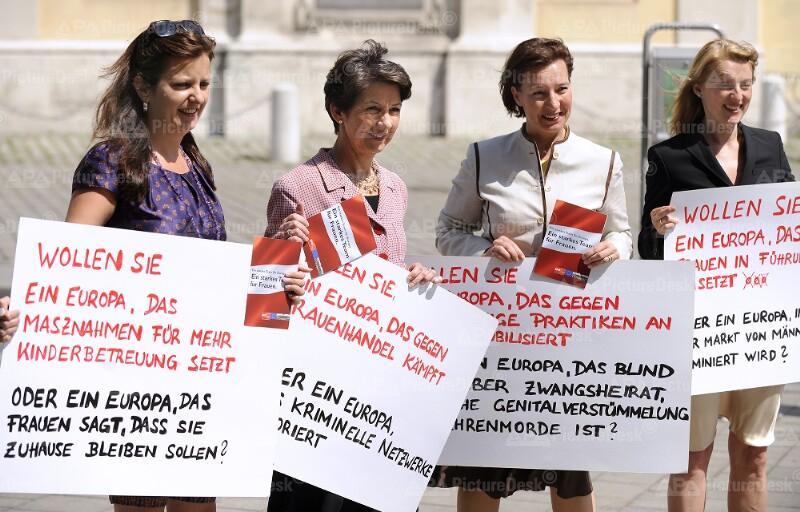 Aktion der SPÖ-Frauen zur EU-Wahl