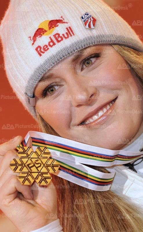Alpine Skiweltmeisterschaft 2009 - Val d'Isere - Damen Super G - Lindsey Vonn