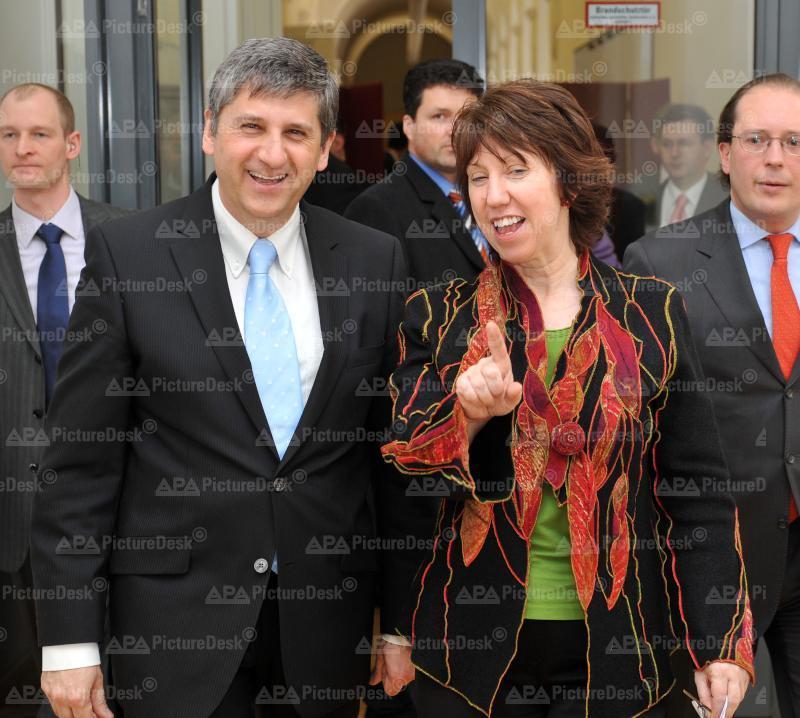 AM Spindelegger trifft EU-AM Ashton in Wien
