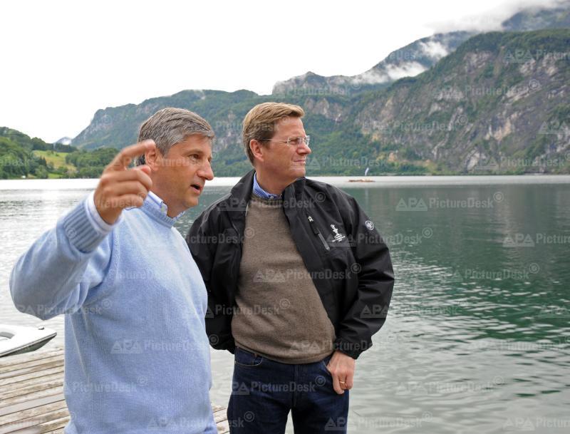 AM Spindelegger trifft deutschen Amtskollegen Westerwelle am Mondsee