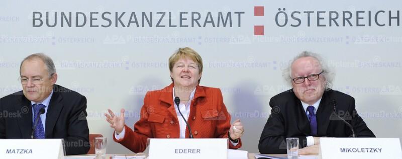 Manfred Matzka, Brigitte Ederer und Lorenz Mikoletzky
