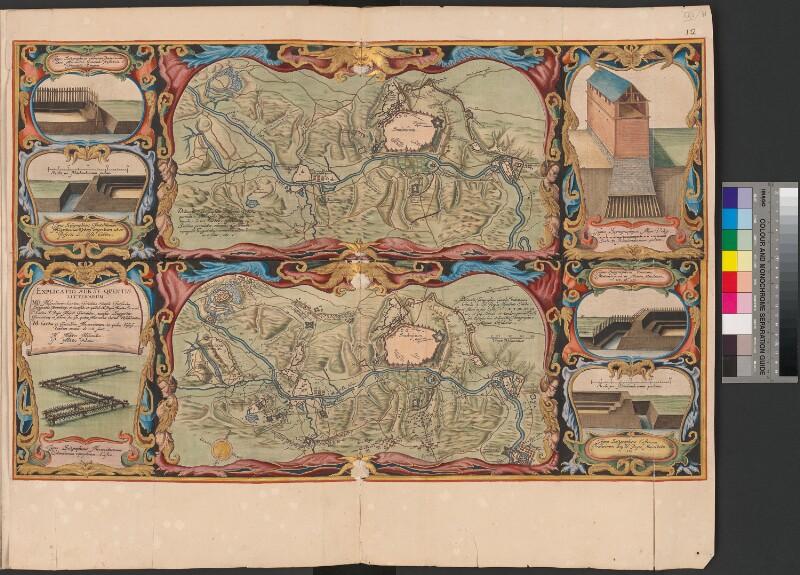 Zwei Landkarten der Belagerung von Smolensk, 1633
