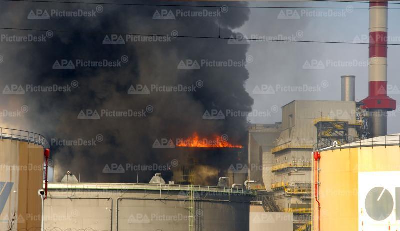 Brand auf OMV-Gelände
