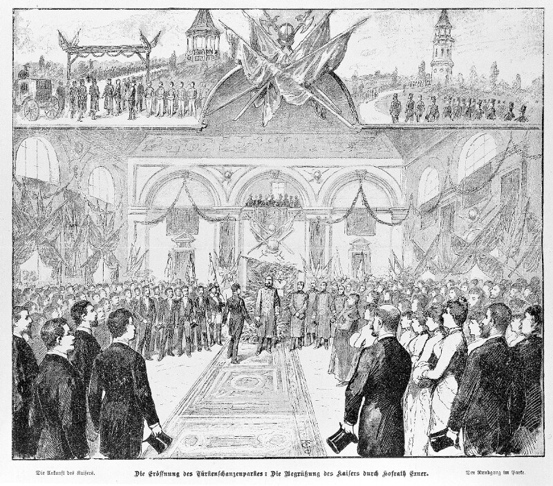 Eröffnung des Türkenschanzparks in Wien