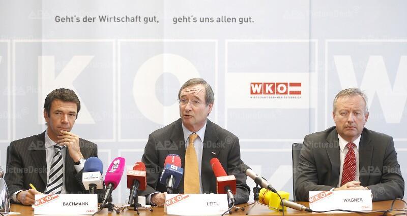 David Bachmann, Christoph Leitl und Kurt Wagner