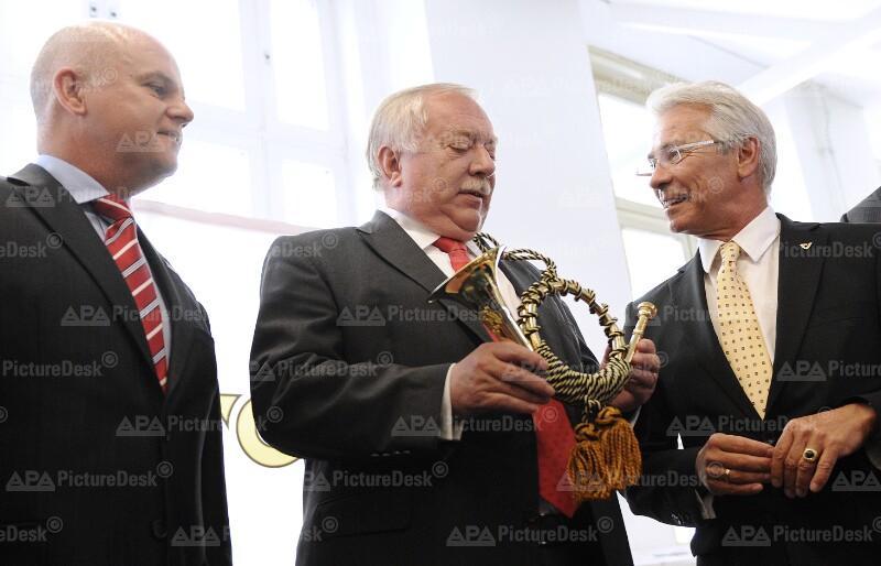 Byron Haynes, Michael Häupl und Georg Pölzl