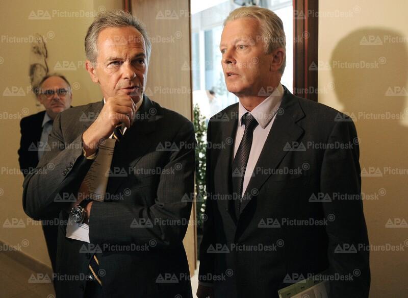 Andreas Treichl und Reinhold Mitterlehner
