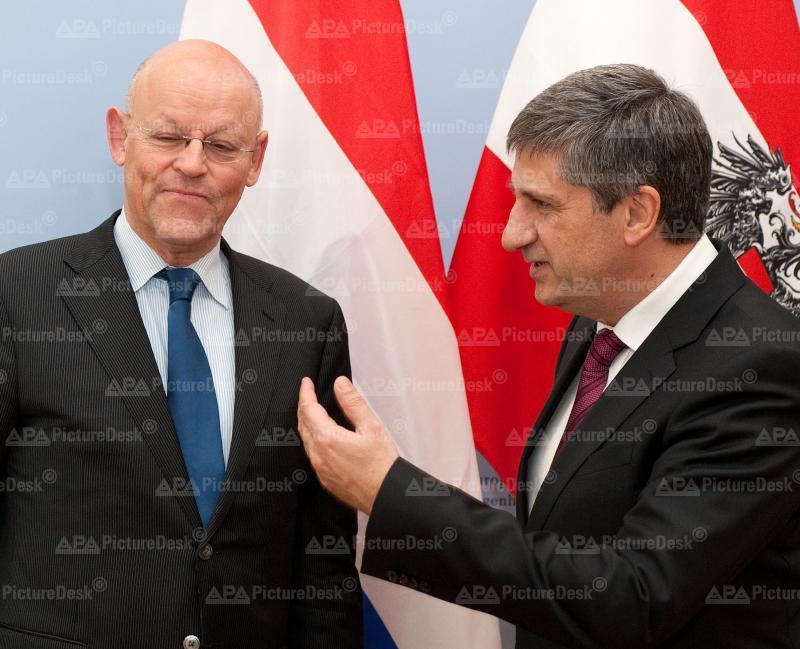 AM Spindelegger trifft niederländischen AM Rosenthal