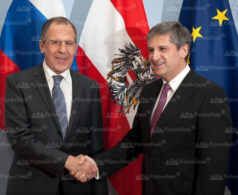 AM Spindelegger trifft russischen AM Lawrow