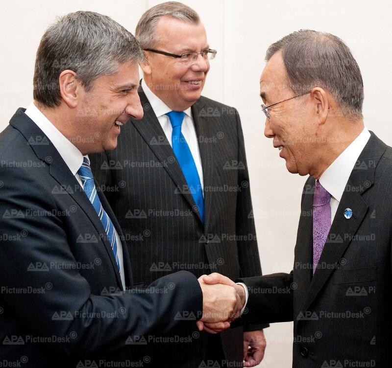 AM Spindelegger trifft UN-Generalsekretär Ban Ki-Moon