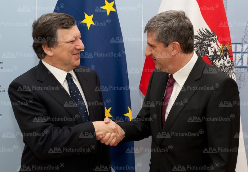 AM Spindelegger trifft EU-Kommissionspräsident Barroso in Wien