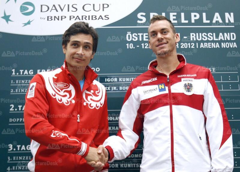 DAVIS CUP: AUSLOSUNG OESTERREICH - RUSSLAND: KUNYZIN (RUS) / HAIDER-MAURER (AUT)