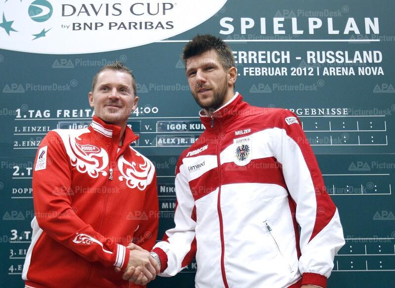 DAVIS CUP: AUSLOSUNG OESTERREICH - RUSSLAND: BOGOMOLOW (RUS) / MELZER (AUT)