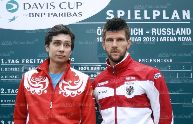 DAVIS CUP: AUSLOSUNG OESTERREICH - RUSSLAND: KUNYZIN (RUS) / MELZER (AUT)