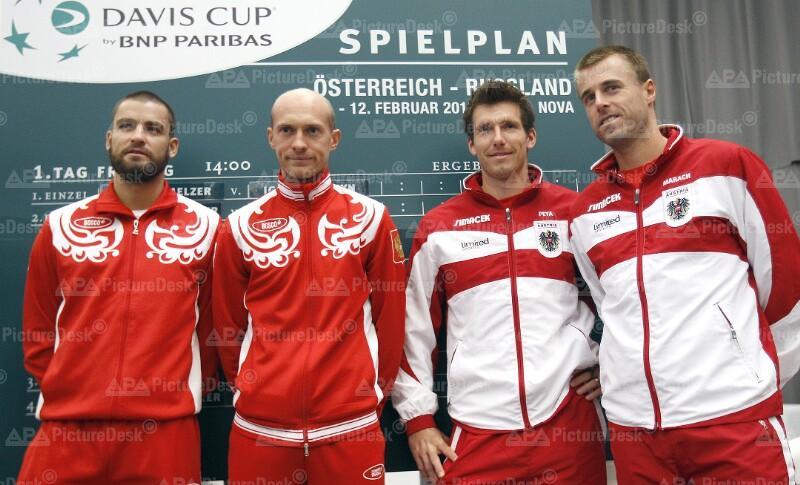 DAVIS CUP: AUSLOSUNG OESTERREICH - RUSSLAND: JUSCHNIY / DAVYDENKO / PEYA / MARACH