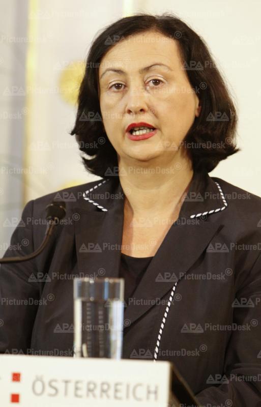 Justizministerin Maria Berger
