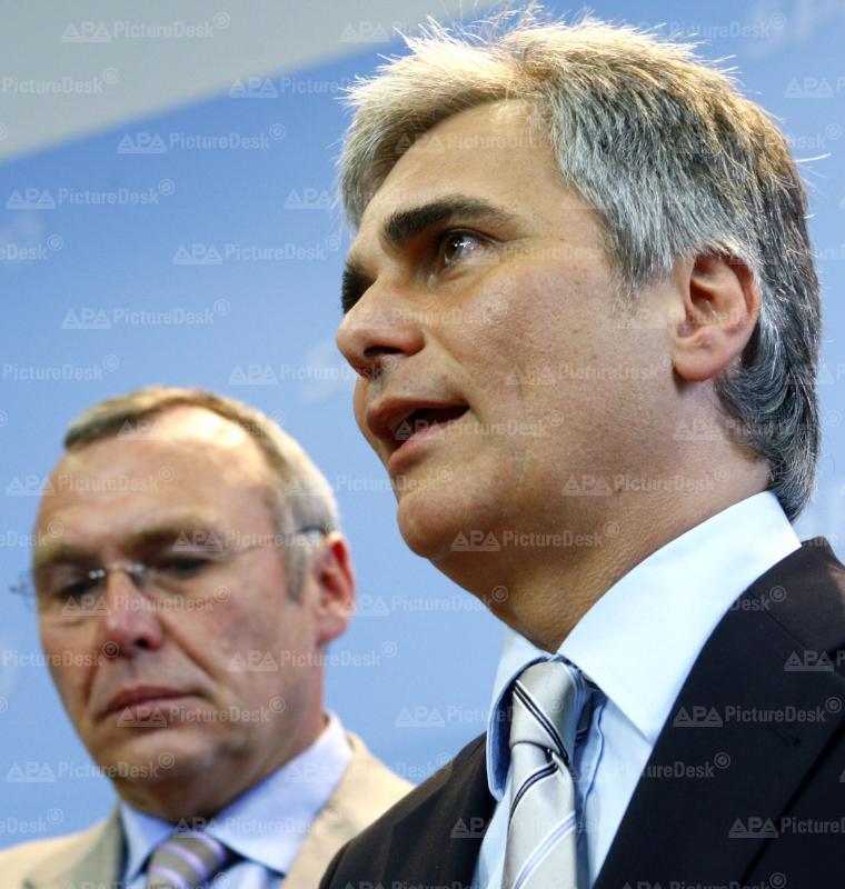 Wien - SPÖ-Parteipräsidium - Gusenbauer, Faymann