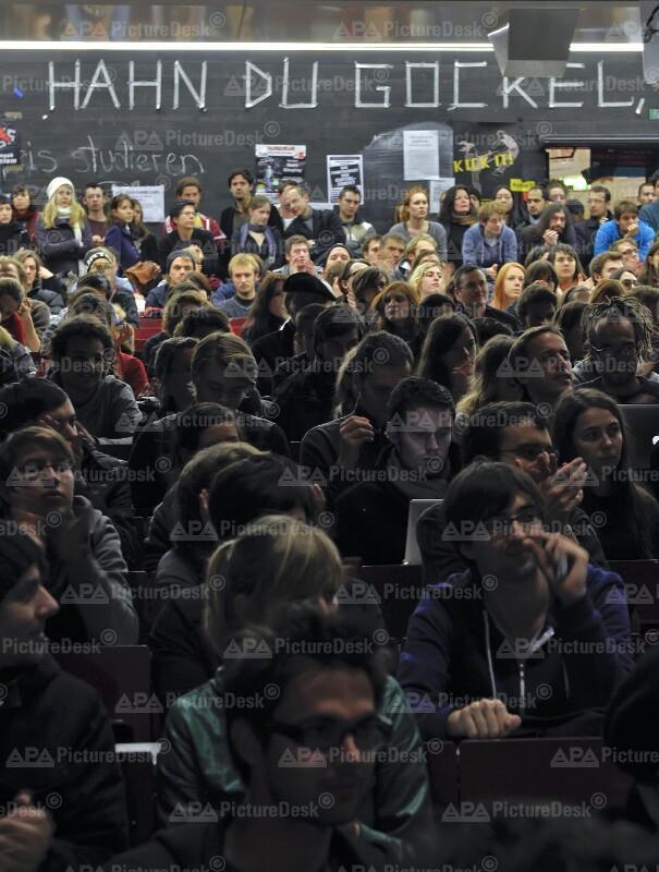 Besetzung des Audimax der Universität Wien