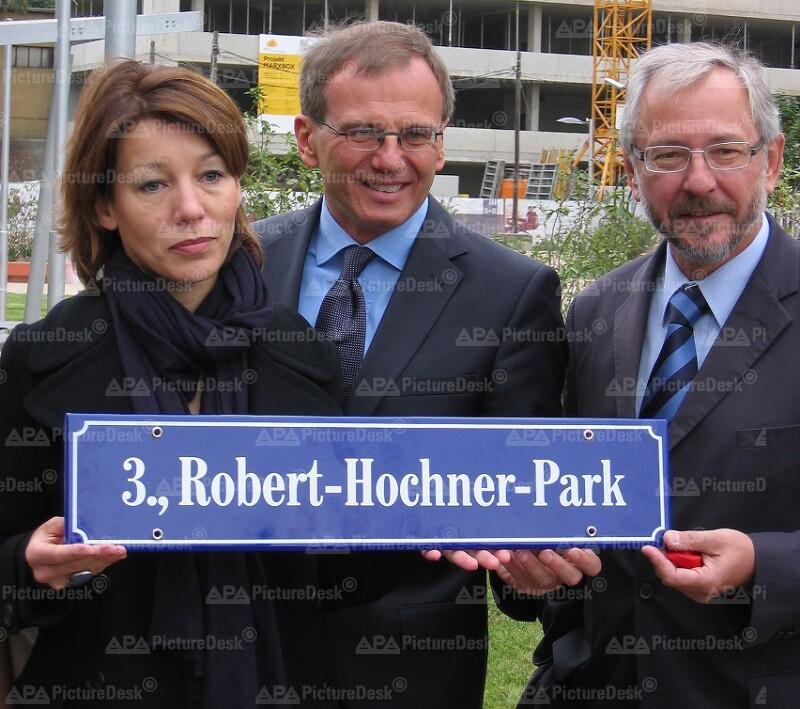 Eröffnung des Robert-Hochner-Park in Wien