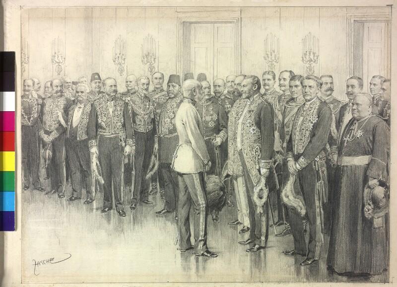 Hofball - Vorstellung des diplomatischen Corps im Marmorsaal der Hofburg