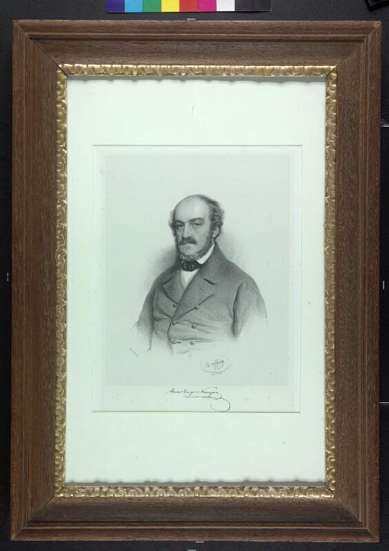 Theodor Georg Ritter von Karajan, Lithografie von Adolf Dauthage, 1853©Bildarchiv Austria, ÖNB