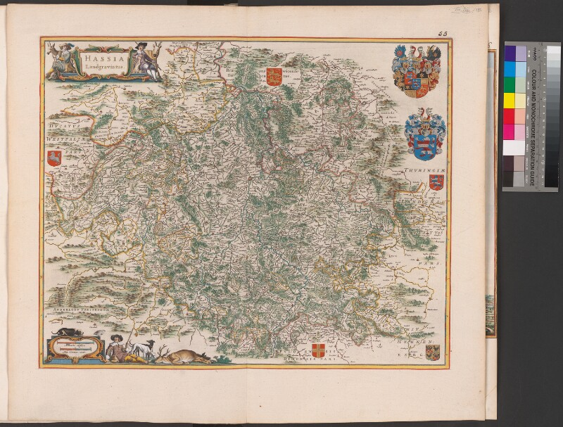 Landkarte der Landgrafschaft Hessen
