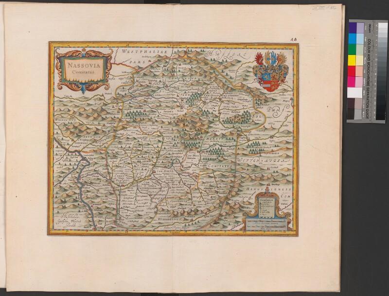 Landkarte der Grafschaft Nassau