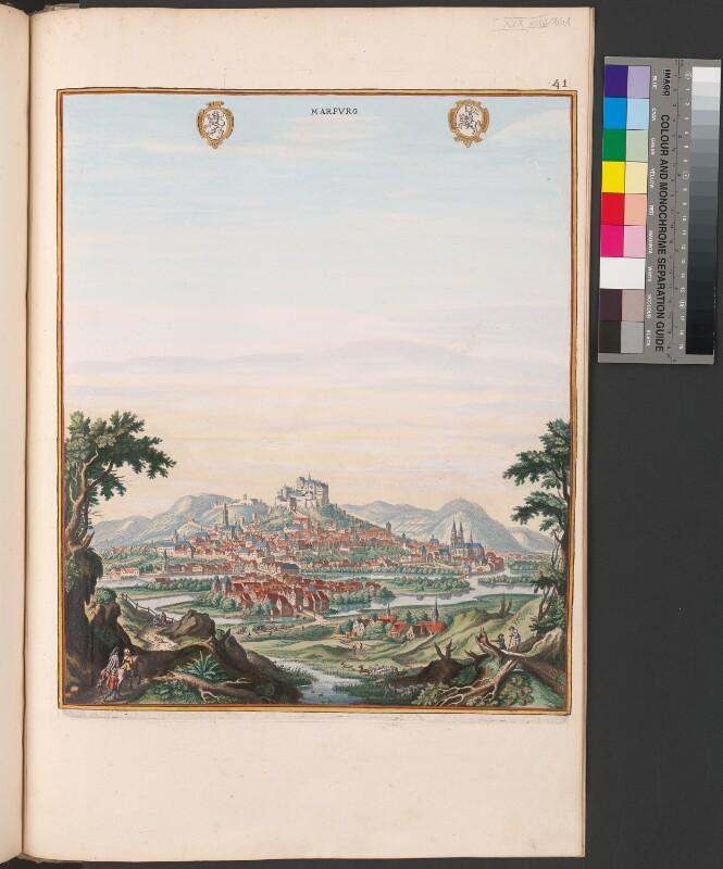 Ansicht von Marburg an der Lahn