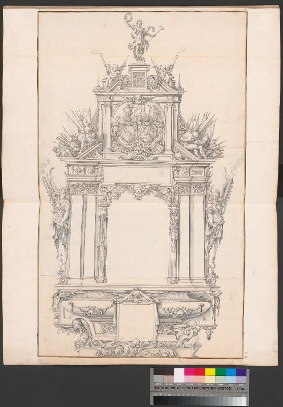 Entwurf eines Grabmals für Pfalzgraf Friedrich IV und seine Gemahlin