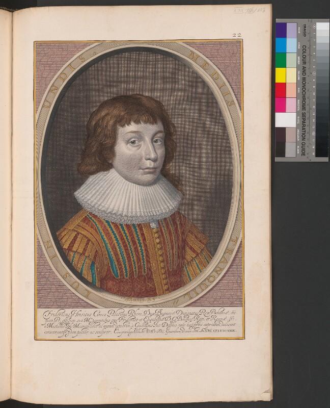 Porträt des Pfalzgrafen Friedrich Heinrich