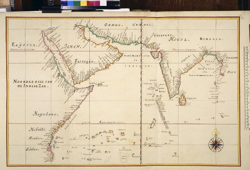 Landkarte (Seekarte) des nördlichen Teils des Indischen Ozeans