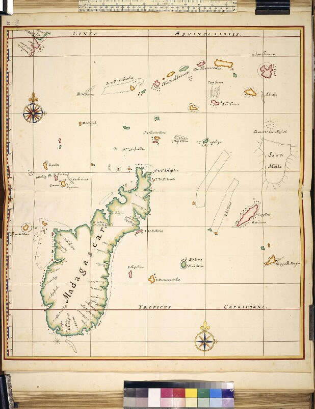Landkarte von Madagaskar und umgebenden Inseln