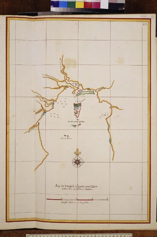 Landkarte der Bucht von Antongil in Madagaskar