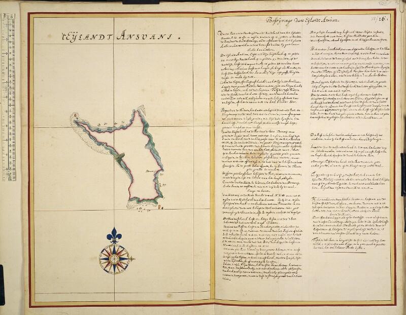 Landkarte und Beschreibung der Insel Anjouan