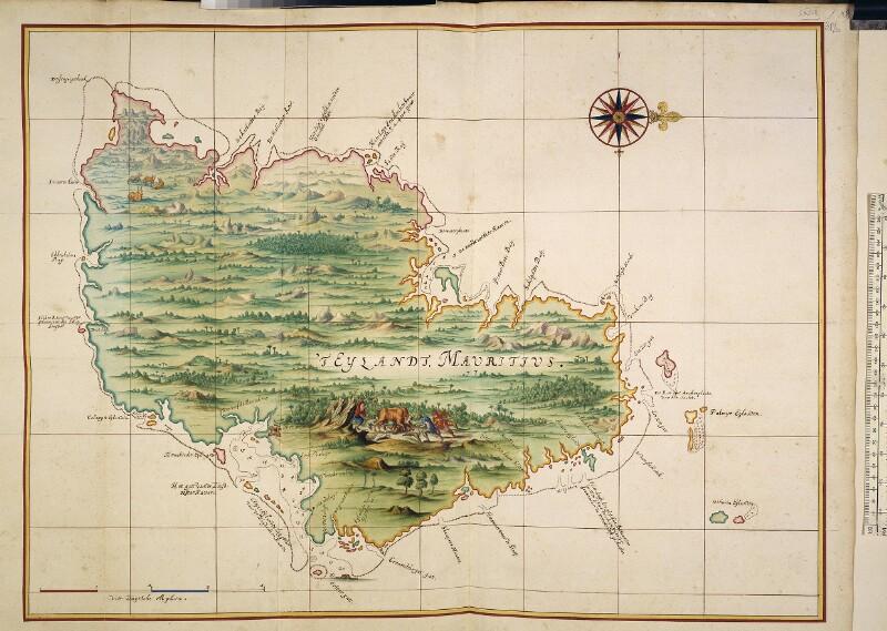 Landkarte der Küste von Mauritius