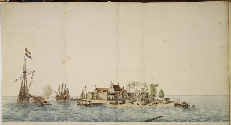 Ansicht der Insel Onrust