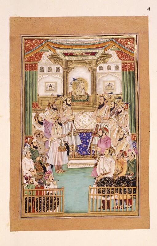 Audienz des Mogulenherrschers Schah Jahan