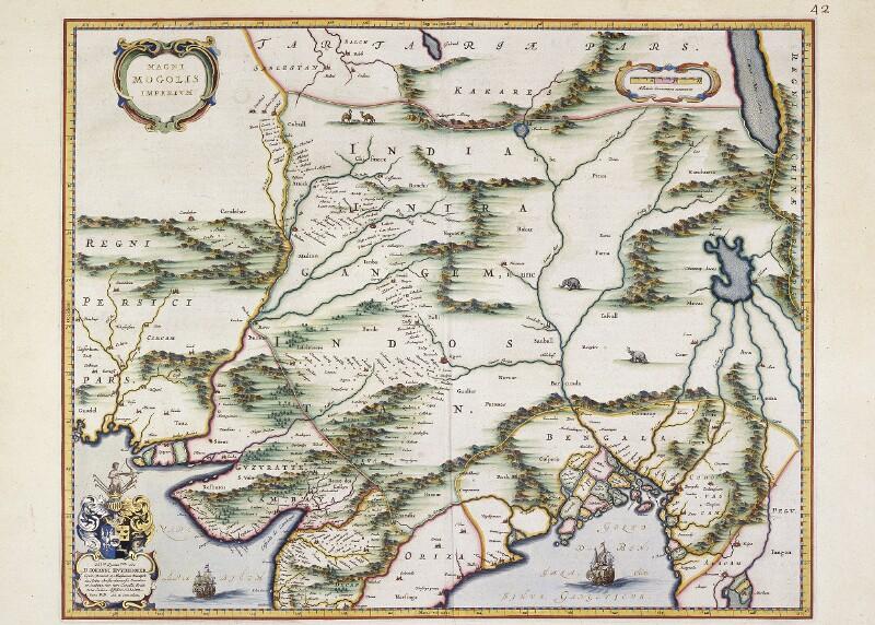 Landkarte des Reichs der Großmoguln