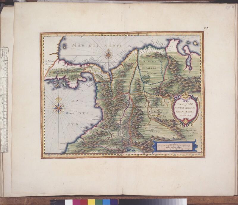 Landkarte von Neugranada
