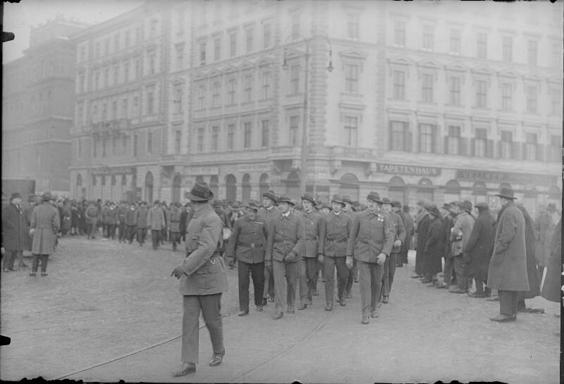 Heimwehr-Aufmarsch in Wien
