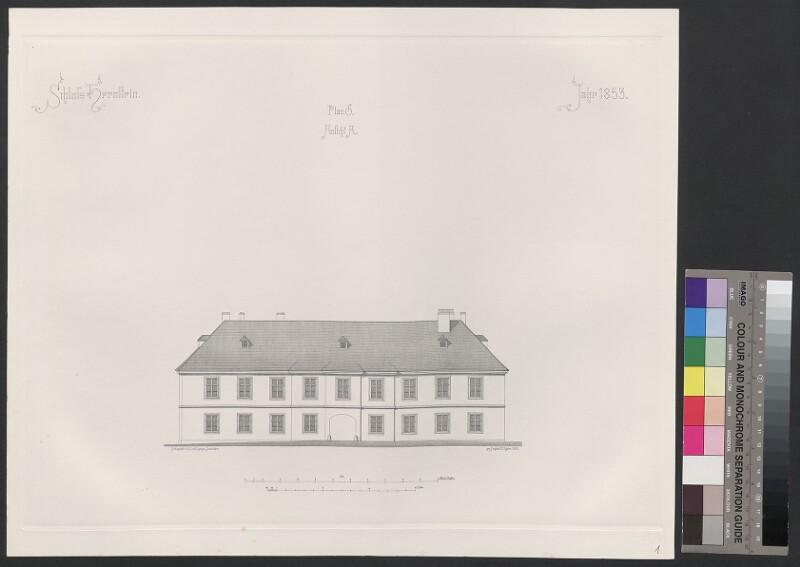 Schloss Hernstein. Jahr 1853. Plan G, Ansicht A