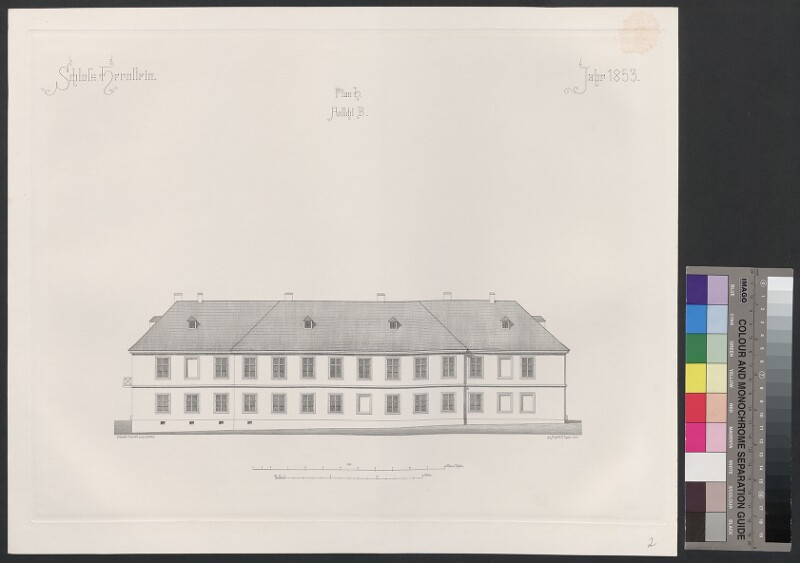 Schloss Hernstein. Jahr 1853. Plan H, Ansicht B