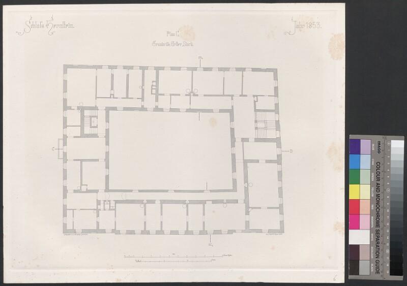 Schloss Hernstein. Jahr 1853. Plan C, Grundriss, Erster Stock