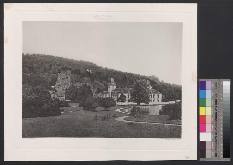 Schloss Hernstein. Übersicht von West