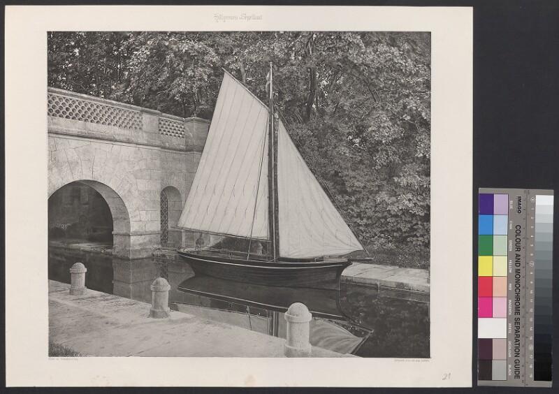 Hölzernes Segelboot
